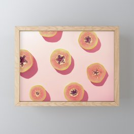 #01_Papaya in pink Framed Mini Art Print