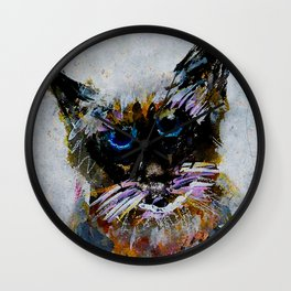 Old Cat Wall Clock