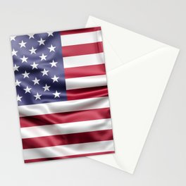 Flag of United States of America Stationery Cards