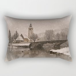 Lake Bohinj With The Church of St John the Baptist Rectangular Pillow