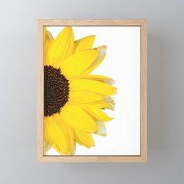 portrait of summer - white Framed Mini Art Print