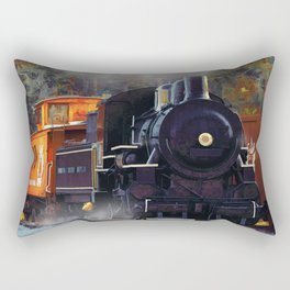 The Rail Yard  -  Steam Train Rectangular Pillow