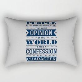 Lab No. 4 People Seem Not to Ralph Waldo Emerson Inspirational Quote Rectangular Pillow