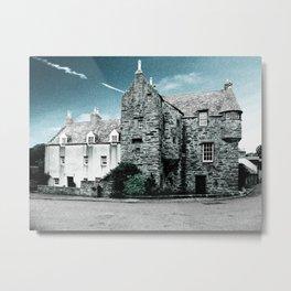 Fordyce Scotland Wee House Blue Vintage Metal Print