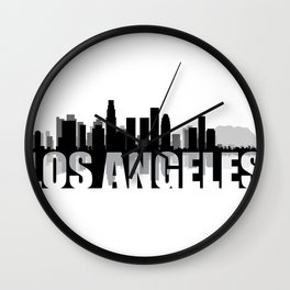 Los Angeles Silhouette Skyline Wall Clock