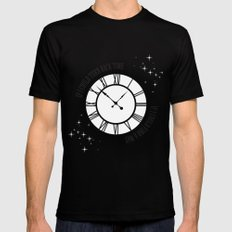 If I Could Turn Back Time... MEDIUM Mens Fitted Tee Black