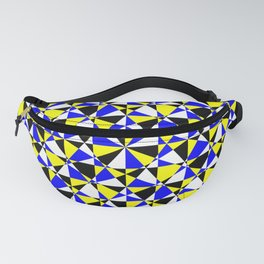 Crazy psychedelic art in chaotic visual color and shapes - EFG220 Fanny Pack