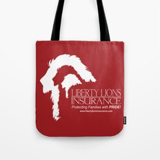 Liberty Lion Insurance Logo Tote Bag