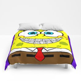 Icey Spongebob With Angry Cheeks Comforters