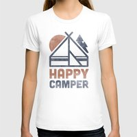 T-shirts featuring Happy Camper by Zeke Tucker