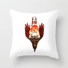 Metamorphoses of Philomela Throw Pillow