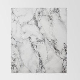 White Marble Texture Throw Blanket