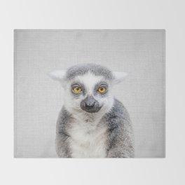 Lemur - Colorful Throw Blanket