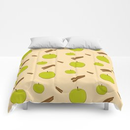 Sweet pattern with apple and cinnamon Comforters