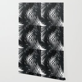 Palms Black Wallpaper