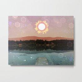 Abundance and Light - solar eclipse sun Metal Print