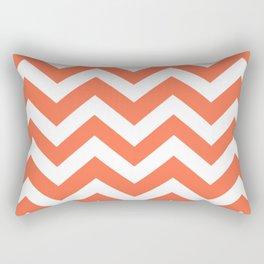 Outrageous Orange - orange color -  Zigzag Chevron Pattern Rectangular Pillow