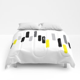 neon stumps - gray Comforters