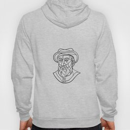 Ferdinand Magellan Mosaic Black and White Hoody