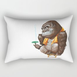 A gorilla relaxing after taking bath Rectangular Pillow