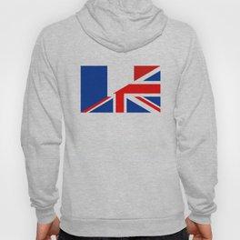 english french country half flag great britain united kingdom france Hoody