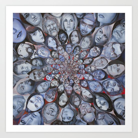 The Social Network Art Print