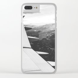 Mountain State // Colorado Rocky Mountains off the Wing of an Airplane Landscape Photo Clear iPhone Case