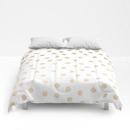 Stylish Gold Polka Dots Comforters