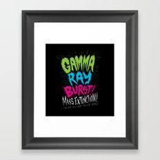 Gamma Ray Burst Framed Art Print