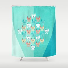 Singing Cats Shower Curtain
