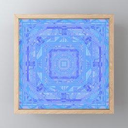 Gorgeous Pastel Purple and Blue Geometric Technology Mandala Framed Mini Art Print
