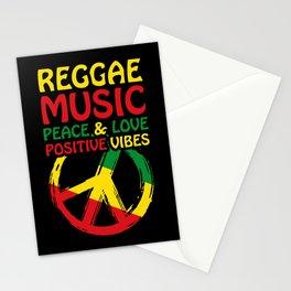 Reggae Design With Peace Symbol Stationery Cards