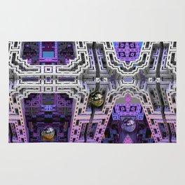 Cubistic 3-d Futuristic Town Rug