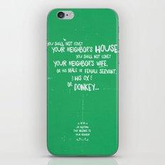 The Tenth Commandment iPhone & iPod Skin