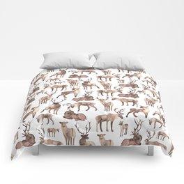 Christmas Reindeer.  Comforters