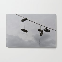 Shoes In The Air Metal Print