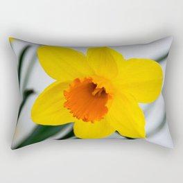 Close-up on a daffodil flower Rectangular Pillow