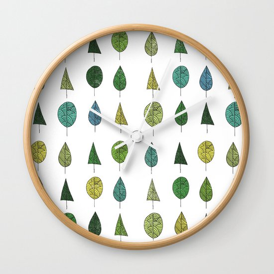 TREES MAKE A FOREST Wall Clock