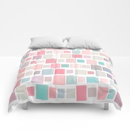 Abstract Pink Pattern Frames Comforters