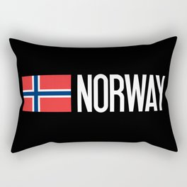 Norway: Norwegian Flag & Norway Rectangular Pillow