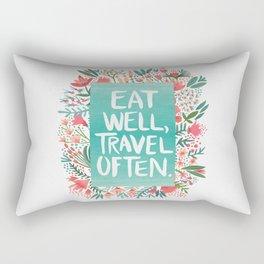 Eat Well, Travel Often Bouquet Rectangular Pillow