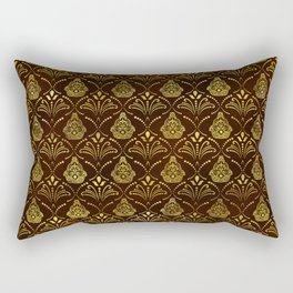 Hamsa Hand pattern -gold on brown glass Rectangular Pillow