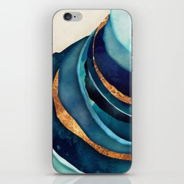 Abstract Blue with Gold iPhone Skin