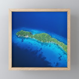 Romantic, Secret Island in Palau: Heaven's View Framed Mini Art Print