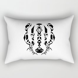 Tribal Badger Rectangular Pillow