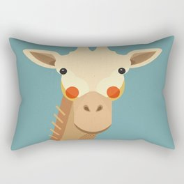 Giraffe, Animal Portrait Rectangular Pillow