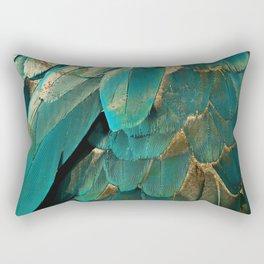 Feather Glitter Rectangular Pillow
