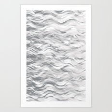 Silver Waves Art Print