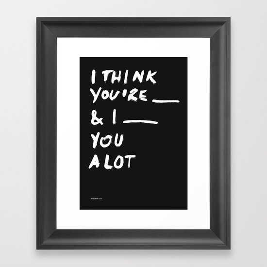 ____ Framed Art Print