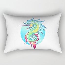 Sea Unicorn Rectangular Pillow